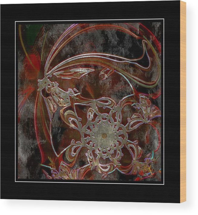 Cherry Wood Print featuring the digital art Red Cherry by Lynda Payton