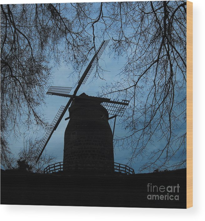 Windmill. Germany Wood Print featuring the photograph Windmill by Sean Brubaker