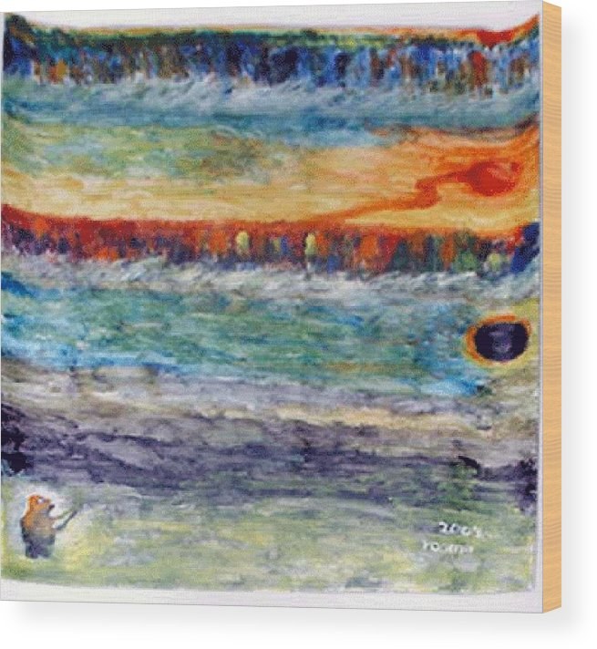 Miracle Wood Print featuring the painting A New Dawn.. by Rooma Mehra