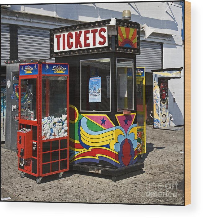Coney Island Wood Print featuring the photograph Coney Island Memories 3 by Madeline Ellis