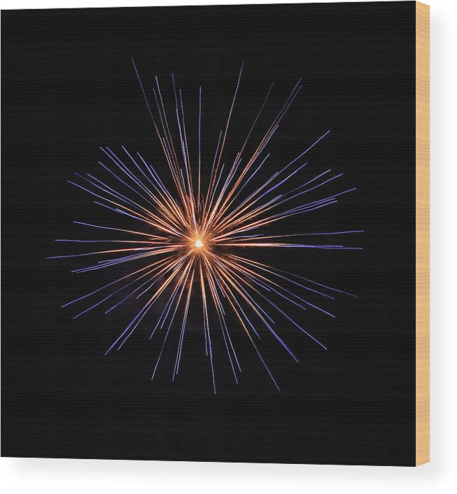 Fireworks Wood Print featuring the photograph Fireworks Two by Kenna Westerman