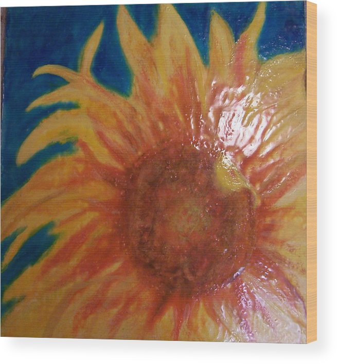 Still Life Wood Print featuring the painting Here Comes The Sun 2.0 by Karla Phlypo-Price