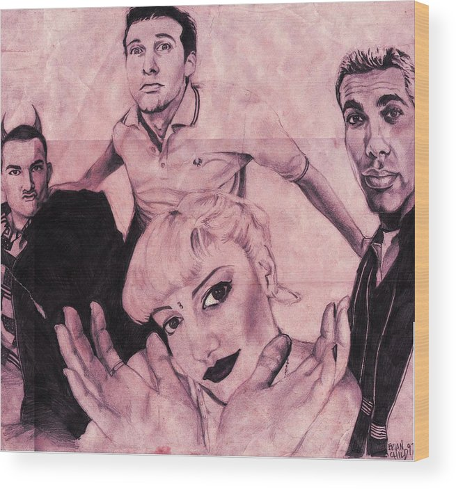 No Doubt Wood Print featuring the drawing No Doubt by Brian Child