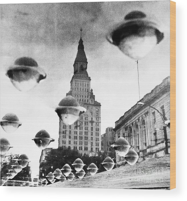 1960 Wood Print featuring the photograph Travelers Insurance Tower by Granger