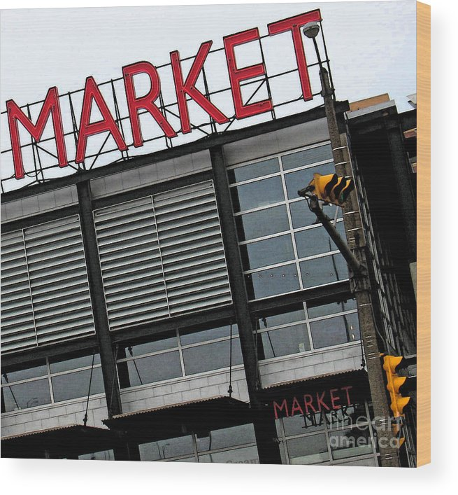 Modern Wood Print featuring the photograph Urban Market by Gary Everson