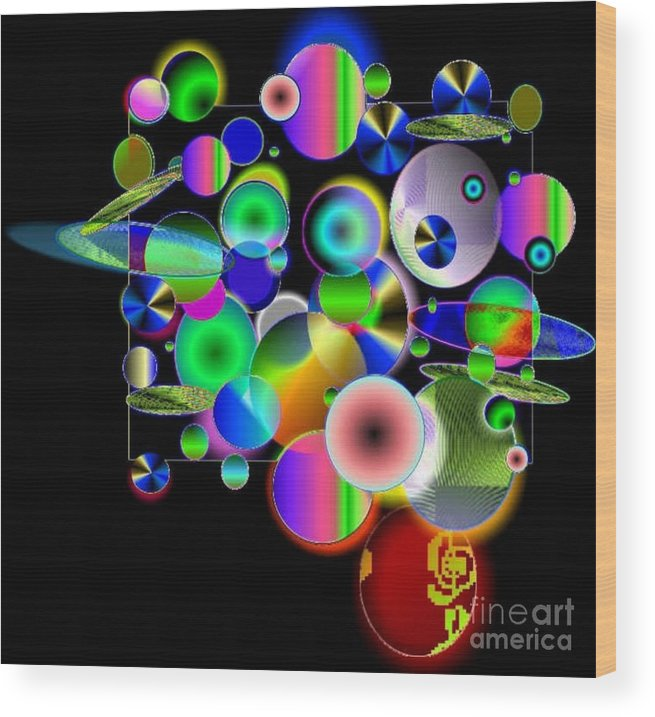 Concept Art Wood Print featuring the digital art Designers New Drum Kit by Brenda L Spencer