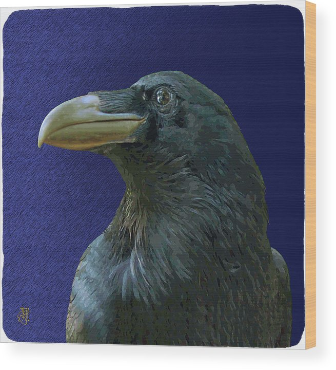 Raven As Loki The Mischief Maker. Wood Print featuring the digital art Loki by John Helgeson