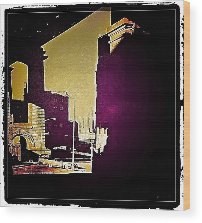 New York Wood Print featuring the photograph Under The Brooklyn Bridge, 1992 by Christoph H-A