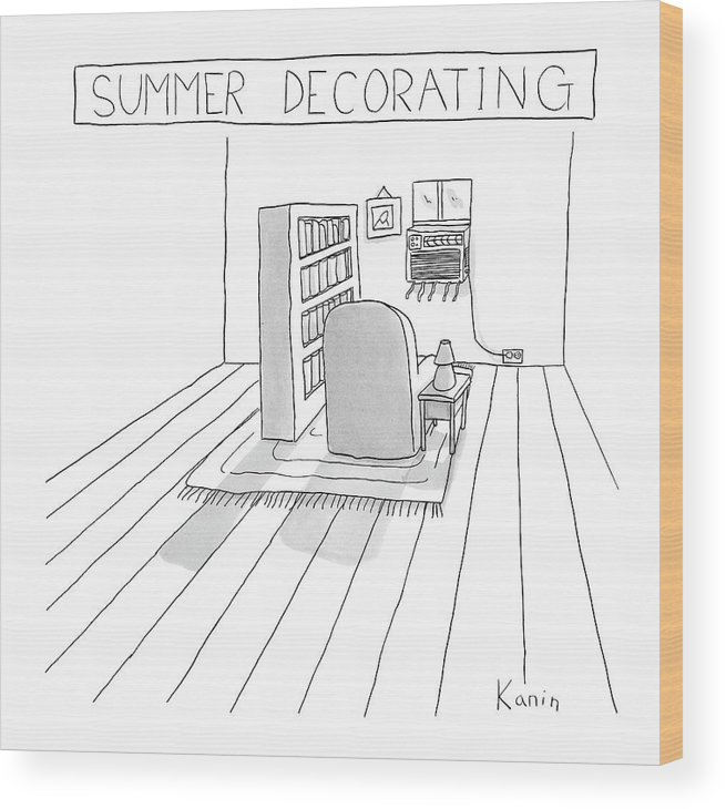 Interior Wood Print featuring the drawing Summer Decorating by Zachary Kanin