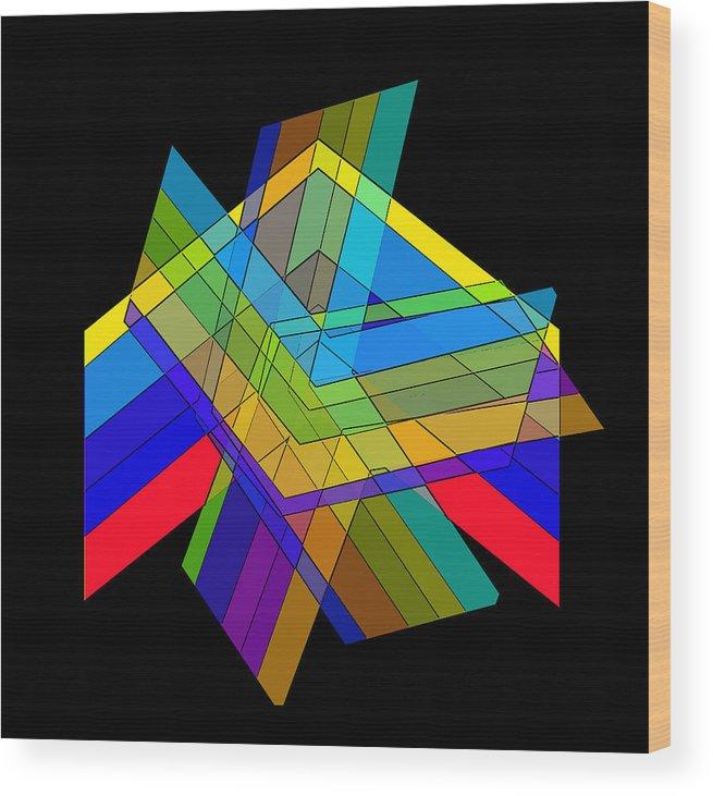 Digital Chevrons Wood Print featuring the digital art Chevrons by Don Allen
