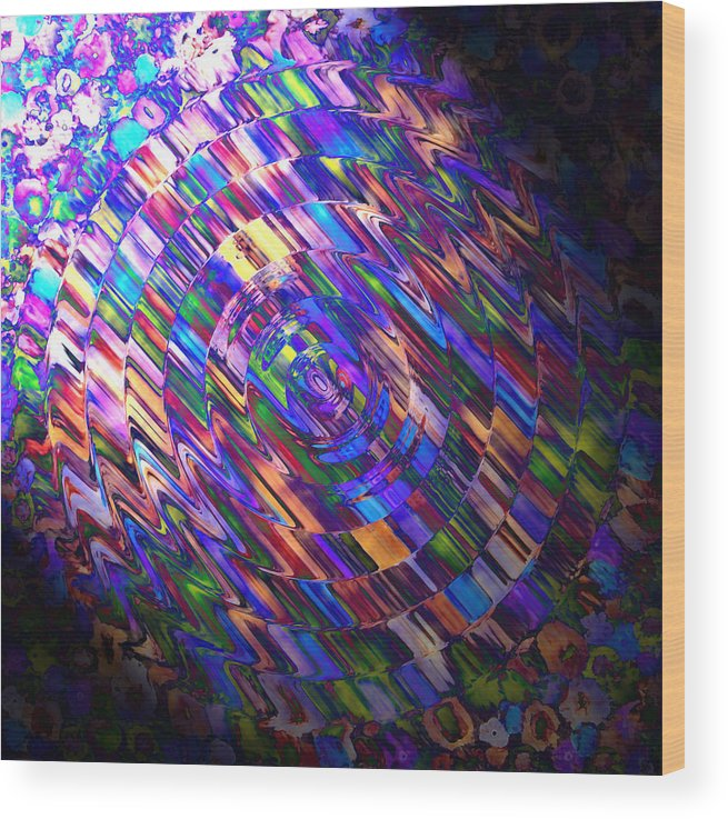 Colour Wood Print featuring the painting Comet Of Colour by Alli Cullimore