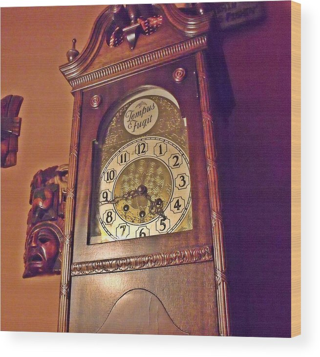 Grandmother Wood Print featuring the photograph Grandmother Clock by Dave Dresser