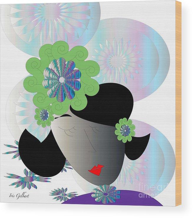 Girl Wood Print featuring the digital art Unwinding by Iris Gelbart