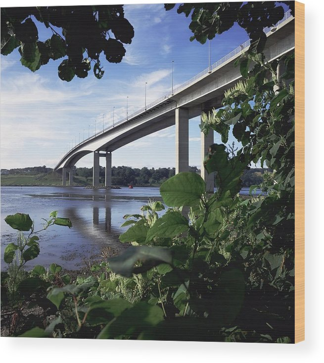 Architecture Wood Print featuring the photograph Foyle Bridge, Derry City, Co by The Irish Image Collection