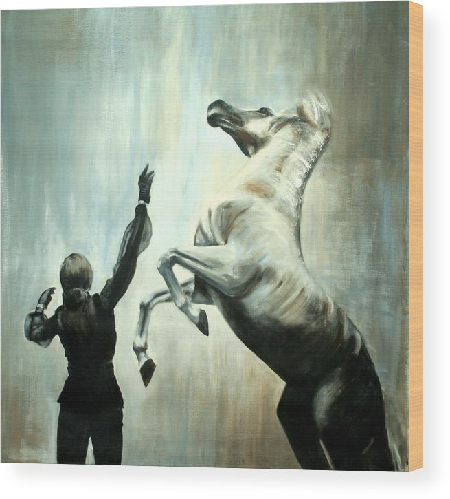 Horses Wood Print featuring the painting Amazing Grace by Fiona Jack