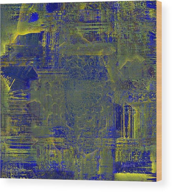 Faniart Wood Print featuring the mixed media A Proud Dreamer - I Am by Fania Simon