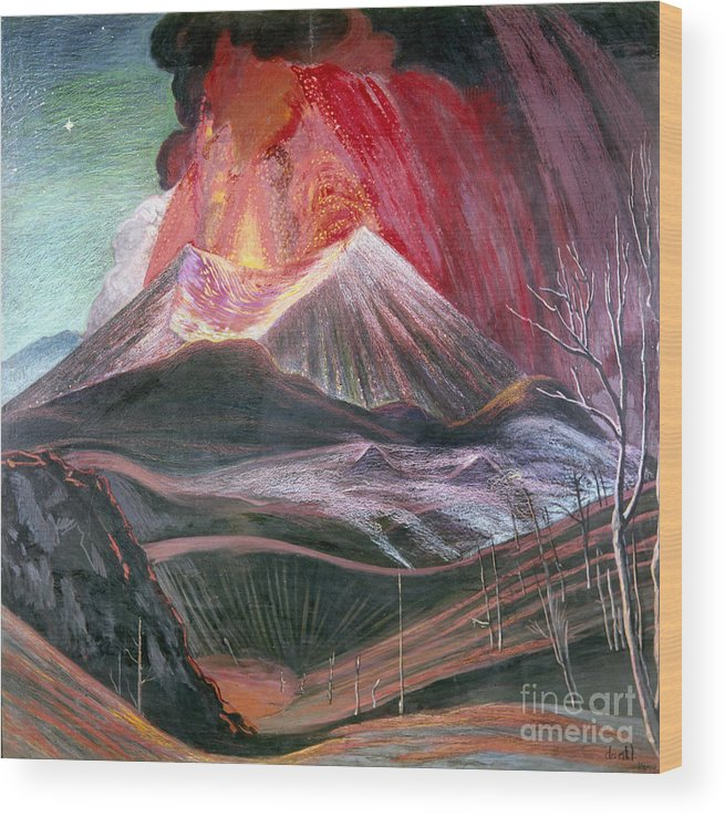 20th Century Wood Print featuring the photograph Atl: Volcano, 1943 by Granger
