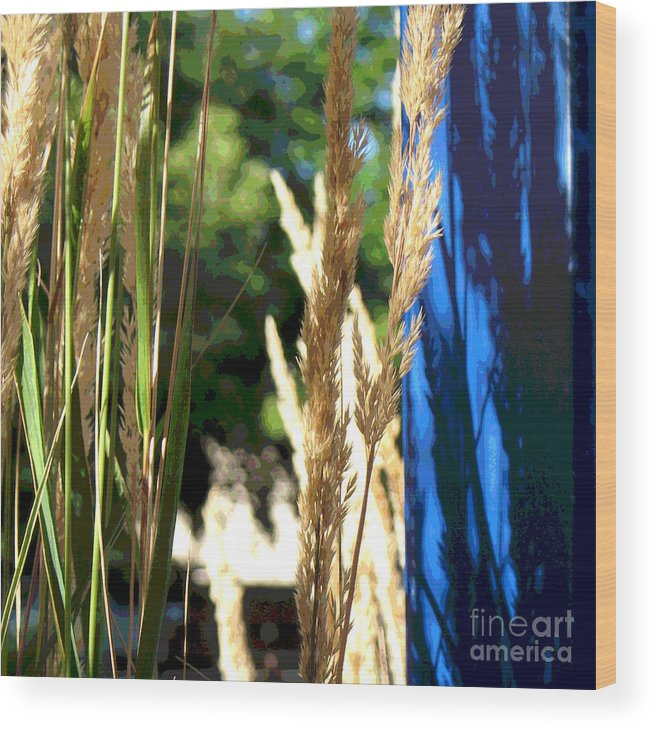 Blue Wood Print featuring the photograph Blue Green by Gary Everson