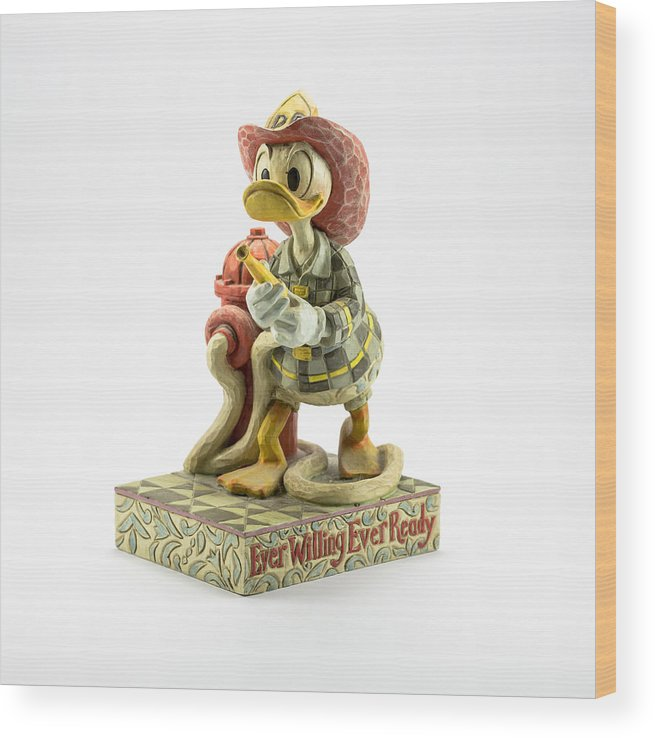 Donald Duck Wood Print featuring the photograph Ever Willing Ever Ready by Greg Thiemeyer