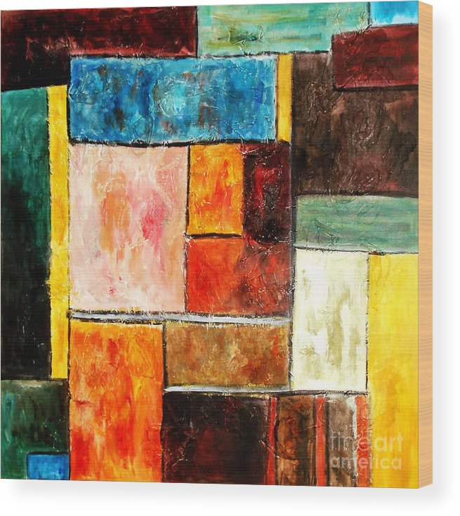 Acrylic Painting Wood Print featuring the painting Harmony by Yael VanGruber