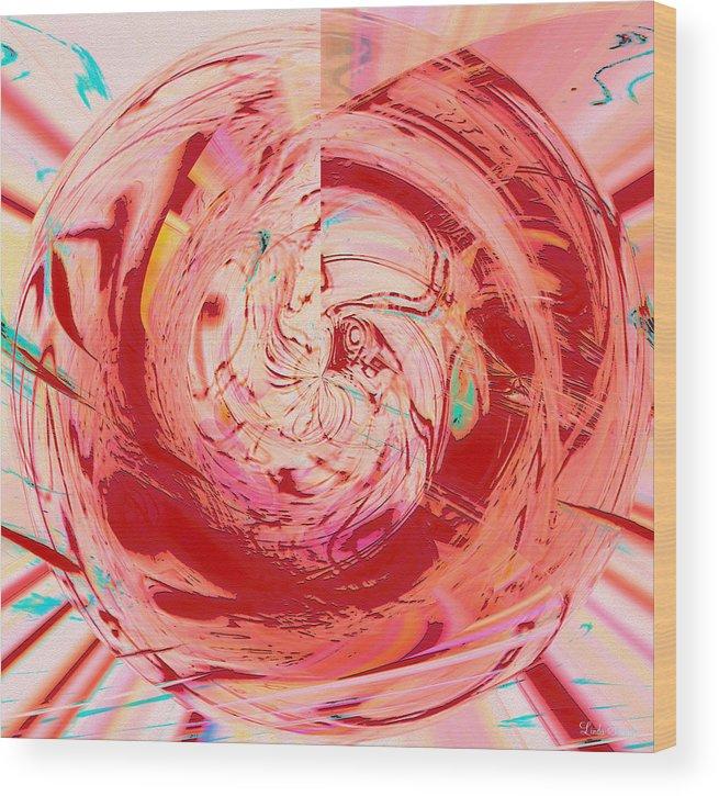Abstract Art Wood Print featuring the digital art Light Waves by Linda Sannuti