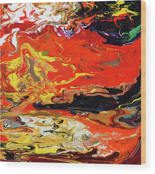 Fusionart Wood Print featuring the painting Melt by Ralph White
