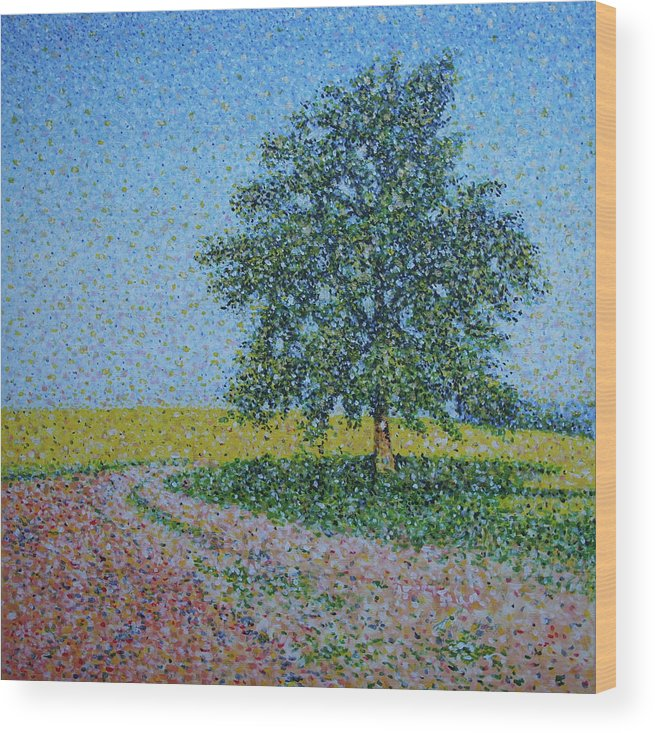 Tree Wood Print featuring the painting Old Tree by Martin Hyross