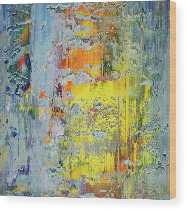 Derek Kaplan Art Wood Print featuring the painting Opt.66.16 A New Day by Derek Kaplan