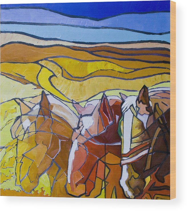 Horses Wood Print featuring the painting Palouse Trio by Gregg Caudell