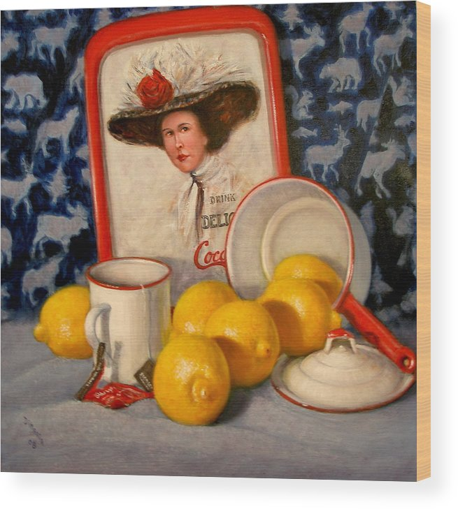 Realism Wood Print featuring the painting Past Teatime by Donelli DiMaria