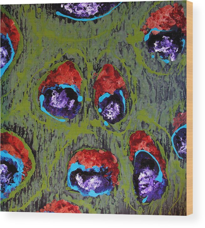 Abstract Wood Print featuring the painting Pricilla by Jess Thorsen