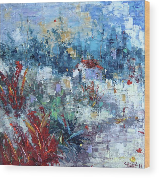 Frederic Payet Wood Print featuring the painting Provence South Of France by Frederic Payet
