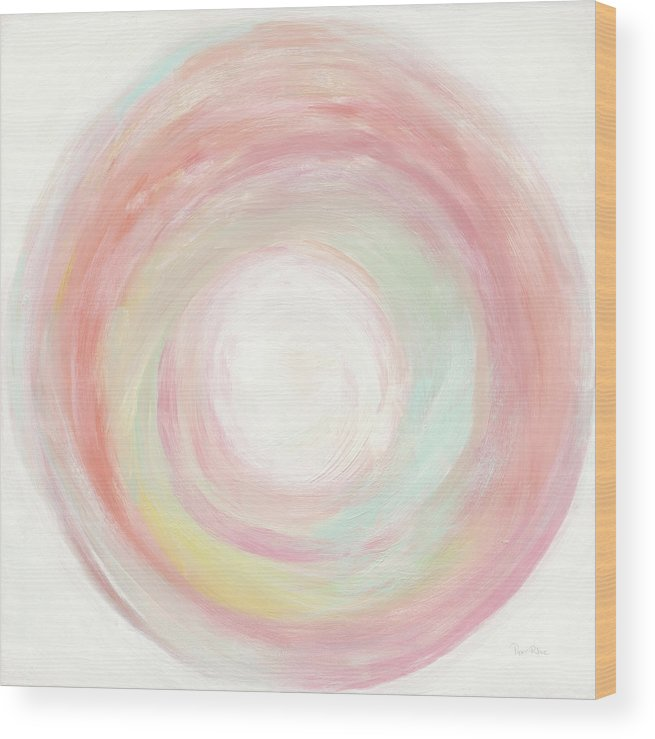 Abstract Wood Print featuring the painting Tropical Swirl I by Piper Rhue