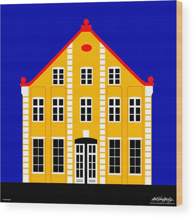 Architecture Wood Print featuring the digital art 7 North Street by Asbjorn Lonvig