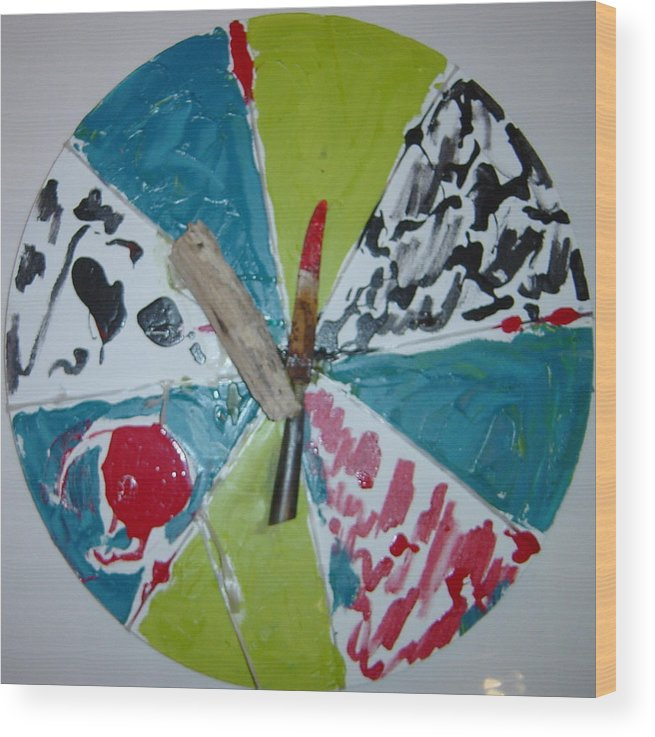 Wood Print featuring the painting Knife And Beachfindings by Biagio Civale