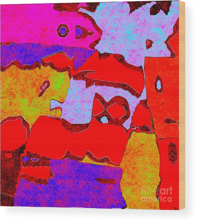 Abstract Wood Print featuring the digital art 0319 Abstract Thought by Chowdary V Arikatla