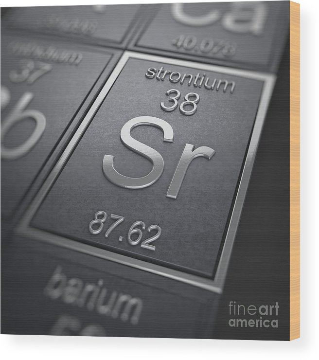 Strontium Wood Print featuring the photograph Strontium Chemical Element by Science Picture Co