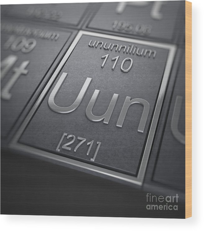 Ununnilium Wood Print featuring the photograph Ununnilium Chemical Element by Science Picture Co