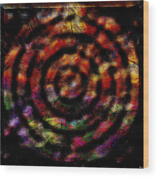 Abstract Wood Print featuring the digital art 1066 Abstract Thought by Chowdary V Arikatla