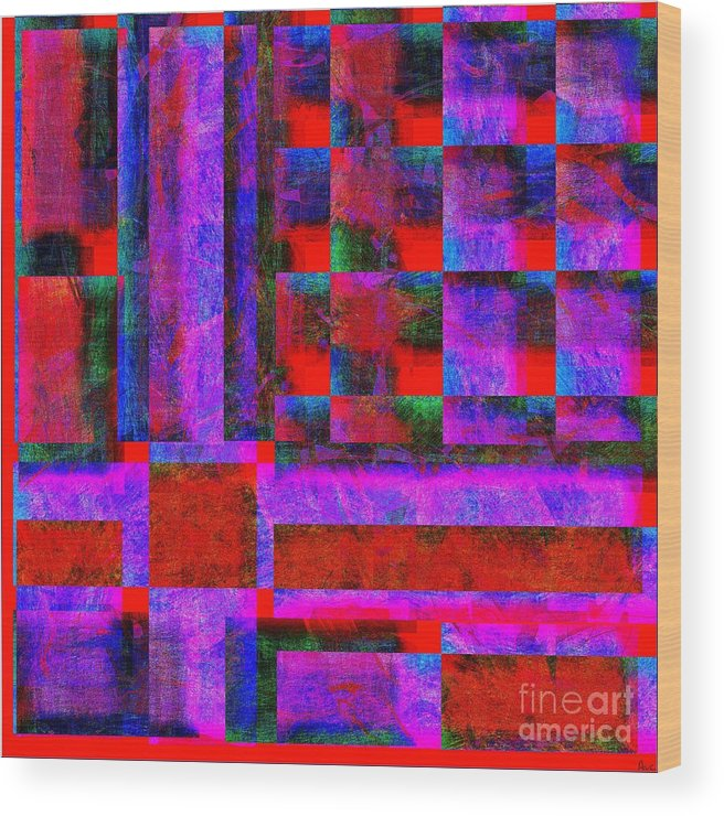 Abstract Wood Print featuring the digital art 1227 Abstract Thought by Chowdary V Arikatla