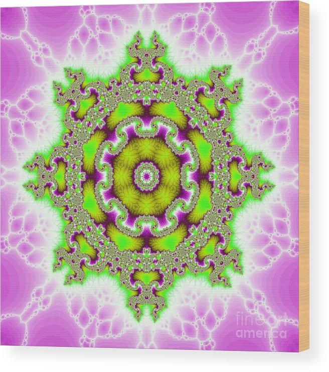 Fracta Wood Print featuring the digital art The Kaleidoscope by Odon Czintos