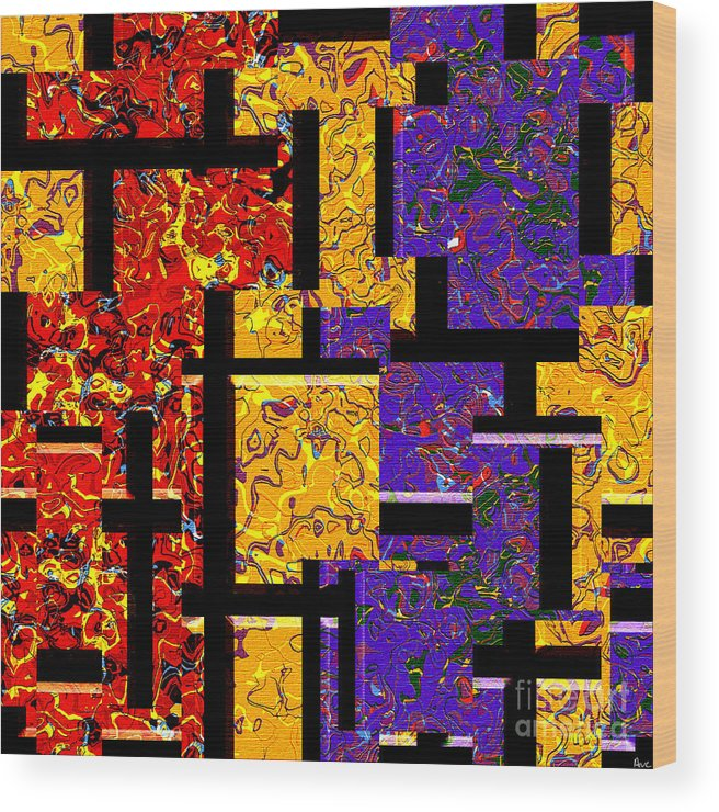 Abstract Wood Print featuring the digital art 1517 Abstract Thought by Chowdary V Arikatla