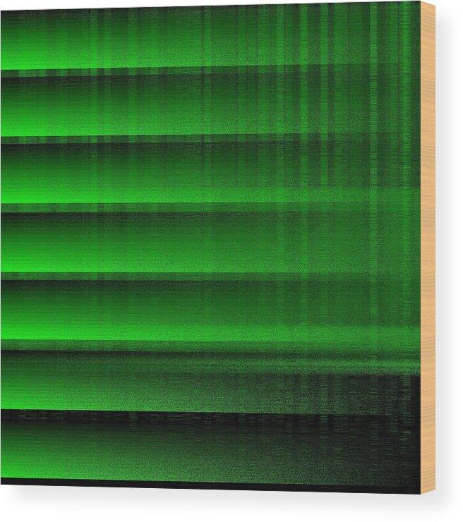 Green 16 Shades Abstract Algorithm Digital Rithmart Wood Print featuring the digital art 16shades.4 by Gareth Lewis
