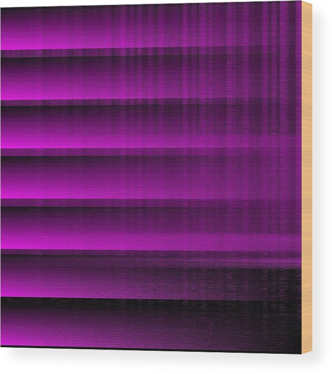Purple 16 Shades Abstract Algorithm Digital Rithmart Wood Print featuring the digital art 16shades.5 by Gareth Lewis