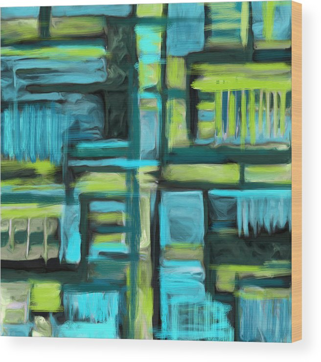 Wood Print featuring the painting Abstract by Lee Ann Asch