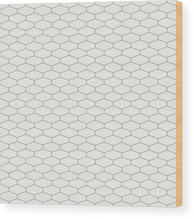 Abstract Seamless Pattern  Hexagonal Grid Design  Wood Print