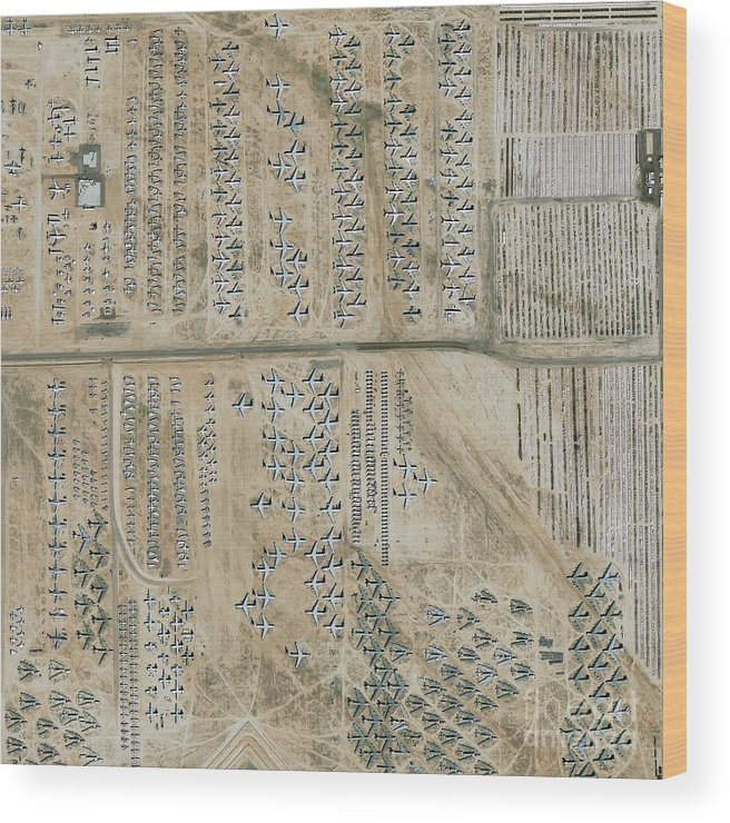Equipment Wood Print featuring the photograph Aircraft Graveyard, Usa by Geoeye