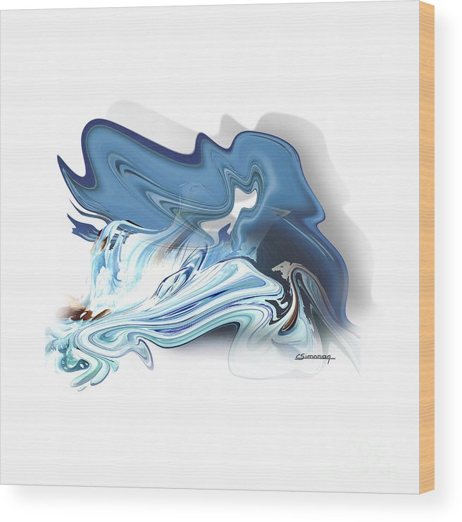 Astrology Wood Print featuring the painting Aquarius by Christian Simonian