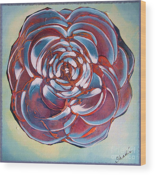 Bloom Wood Print featuring the painting Bloom II by Shadia Derbyshire