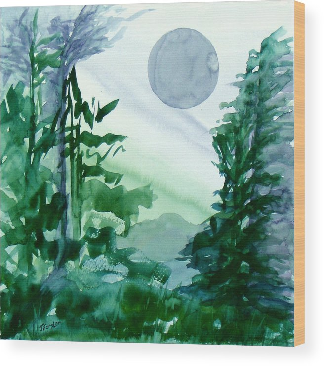 Blue Wood Print featuring the painting Blue Moon by Jodi Forster